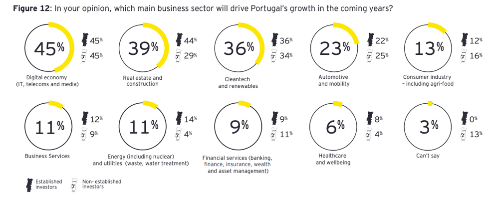 Main sectors drivers of Portuguese growth in the coming years
